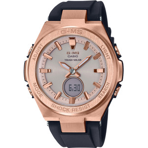 Casio G-MS Ladies Solar Powered Black And Rose Gold Watch MSG-S200G-1AER