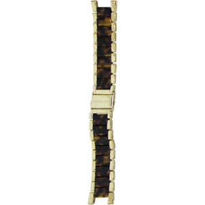 Micheal Kors Gold With Turtle Shell Middle 22mm Stainless Steel bracelet Watch MK5873