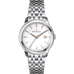Dreyfuss & Co Women's 1890 White Dial Stainless-Steel Bracelet Watch DLB00125/06