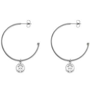 Tommy Hilfiger Casual Core Women's Silver Stainless-Steel Hoop Earrings 2780023