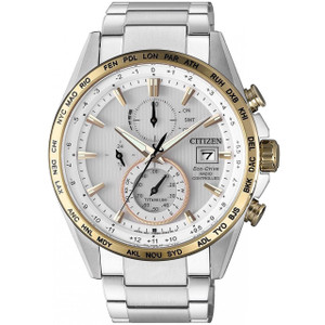 Citizen Eco-Drive Men's Radio Controlled Chronograph Titanium Bracelet Watch AT8156-87A