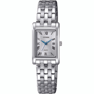 Citizen Quartz Women's White Dial Silver Bracelet Watch EJ6120-54A
