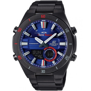 Casio Edifice Men's Scuderia Toro Rosso World Time Blue Dial Bracelet Watch ERA-110TR-2AER
