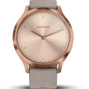 Garmin Vivomove HR Grey Leather Strap Hybrid Smartwatch With Free Add-on Strap 010-01850-09
