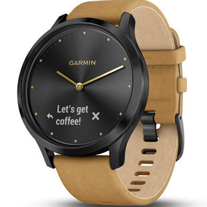 Garmin Vivomove HR Tan Leather Strap Hybrid Smartwatch With Free Add-on Strap 010-01850-00