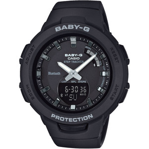 Casio Baby-G Steptracker Bluetooth Black Dial Resin Strap Watch BSA-B100-1AER