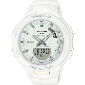 Casio Baby-G Steptracker Bluetooth White Dial Resin Strap Watch BSA-B100-7AER
