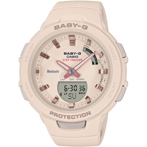 Casio Baby-G Steptracker Bluetooth Beige Dial Resin Strap Watch BSA-B100-4A1ER