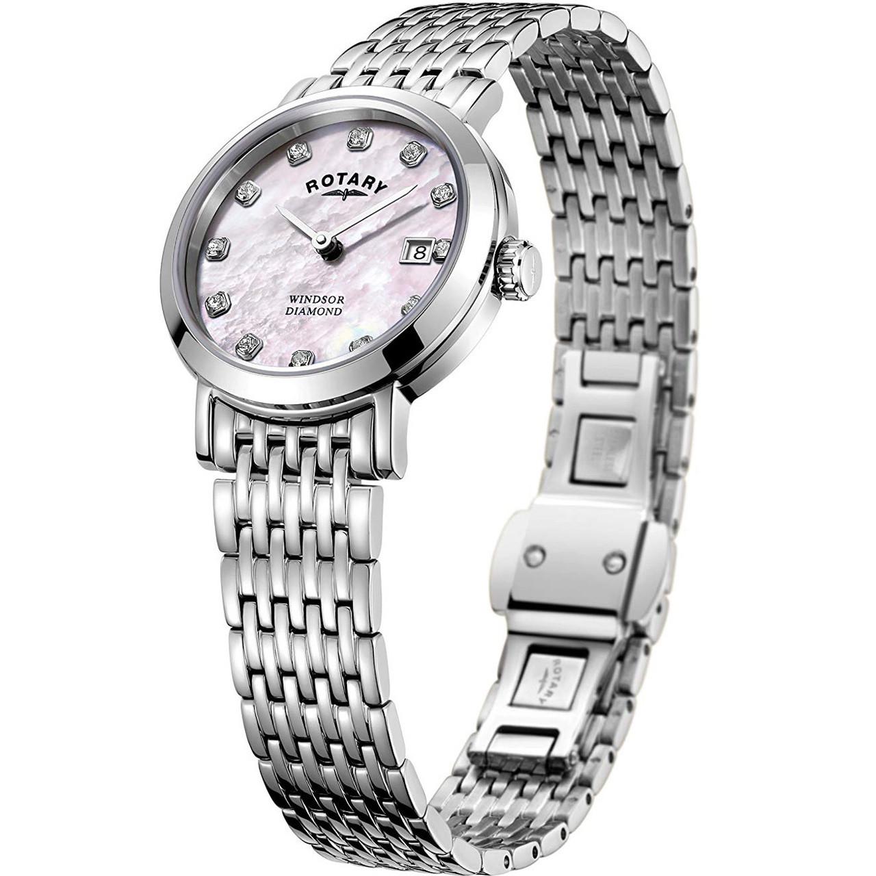 ec25b6bf1b58 Rotary Women s Windsor Diamond Sapphire Bracelet Watch LB05300 07 D. ◅ ZOOM