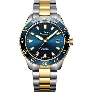 Rotary Men's Henley Automatic Sapphire Blue Dial Two-Tone Bracelet Watch GB05131/05