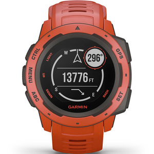 Garmin Instinct GPS Flame Red Watch 010-02064-02
