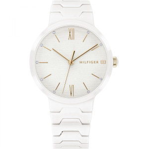 Tommy Hilfiger Ladies Avery White Ceramic Bracelet Watch 1781956