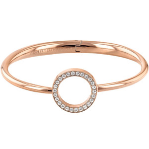 Tommy Hilfiger Ladies Dressed Up Rose Gold Open Circle Bangle 2780066