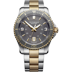 Victorinox Men's Maverick Swiss Army Sapphire Two-Tone Bracelet Watch 241825