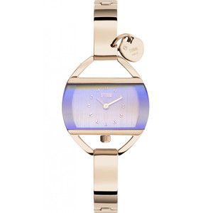 Storm Ladies Temptress Charm Swarovski Crystal Rose Gold And Violet Bracelet Watch