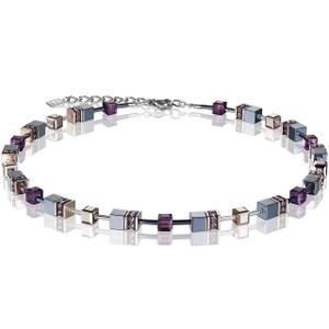 Coeur De Lion Ladies GeoCube Swarovski Crystals Haematite Multicolour Necklace 4015-10-0824