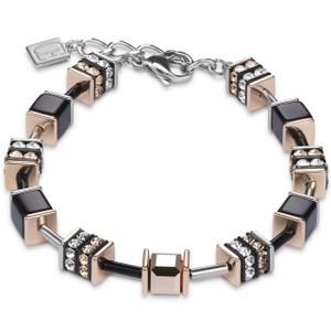 Coeur De Lion Ladies GeoCube Swarovski Crystals Multicolour Bracelet 4928-30-1523
