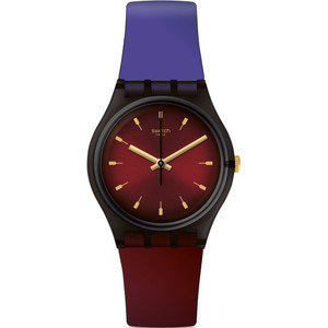 Swatch Unisex Deep Wonder Purepurple Silicone Strap Watch GB308