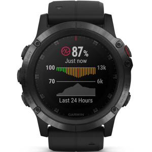 Garmin Fenix 5X Plus Sapphire GPS Multi-Sport Multi-Sensor HR Music Black Smartwatch 010-01989-01