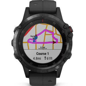 Garmin Fenix 5 Plus Sapphire GPS Multi-Sport Multi-Sensor HR Music Black Smartwatch 010-01988-01