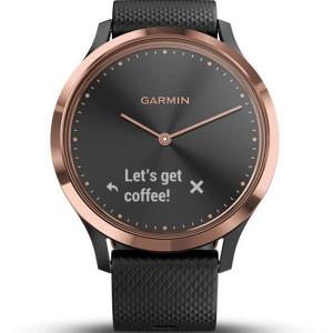Garmin Vivomove Heart Rate Rose Gold And Black Hybrid Smartwatch 010-01850-06