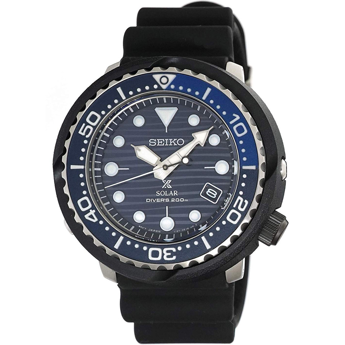 f509f259b55 Seiko Prospex Save The Ocean Tuna Solar Blue Dial Watch SNE518P1