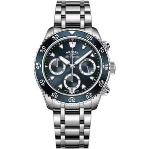 Rotary Swiss Made Legacy Men's Chronograph Deep Ocean Blue Dial Bracelet Watch GB90170/05