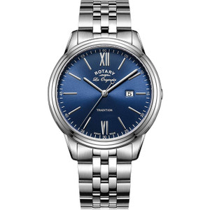 Rotary Swiss Made Tradition Men's Blue Dial Bracelet Watch GB90194/05
