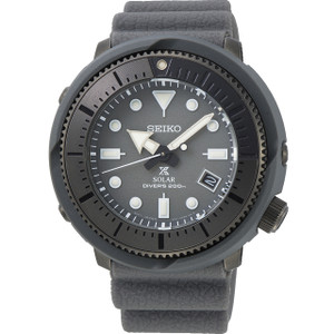 Seiko Prospex Street Series Solar Powered Silicone Strap Grey Diver's Watch SNE537P1