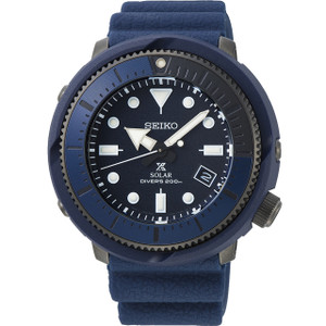 Seiko Prospex Street Series Solar Powered Silicone Strap Navy Diver's Watch SNE533P1