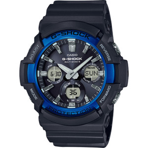 G-Shock Men's Radio Controlled Tough Solar Black Resin Strap Watch GAW-100B-1A2ER