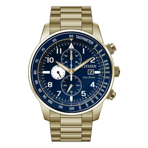 Citizen Eco-Drive Men's Blue Dial Chronograph Bracelet Watch CA0692-58L