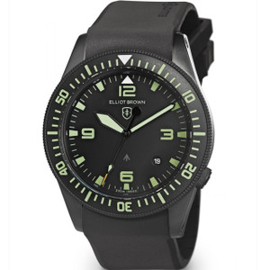 Elliot Brown Men's Holton Professional Sapphire Black Rubber Strap Watch 101-001-R06