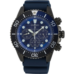 Seiko Prospex Save The Ocean Diver's Solar Chronograph Blue Dial Strap Watch SSC701P1