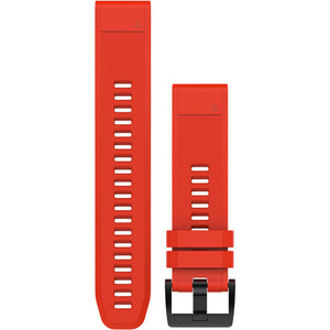 Garmin Quick Fit 22mm Flame Red Silicone Watch Strap 010-12496-03