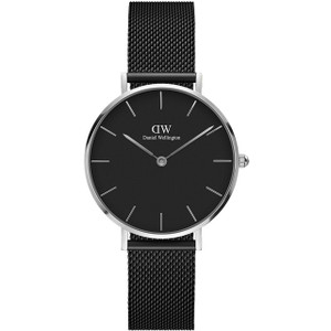 Daniel Wellington Ladies Classic Petite Ashfield Black Mesh Bracelet Watch DW00100202