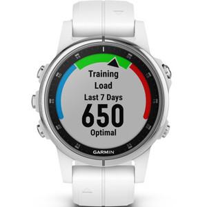 Garmin Fenix 5S Plus Sapphire GPS Multi-Sport Multi-Sensor HR Music White 42mm Smartwatch 010-01987-01
