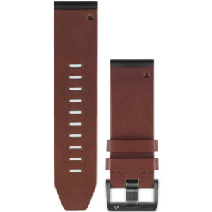 Garmin Quick Fit 26mm Brown Leather Watch Strap 010-12517-04