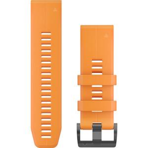 Garmin Quick Fit 26mm Solar Flare Orange Silicone Watch Strap 010-12741-03