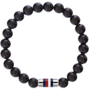 Tommy Hilfiger Men's Black Onyx Beaded Bracelet 2790068