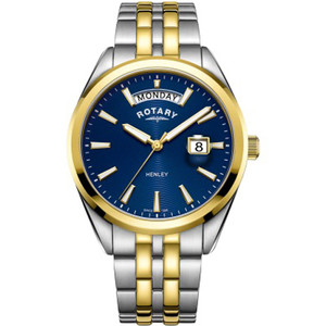 Rotary Men's Henley Sapphire Blue Dial Two Tone Gold PVD Bracelet Watch GB05291/05