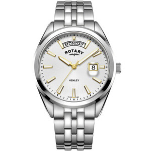 Rotary Men's Henley Sapphire Silver White Dial Bracelet Watch GB05290/70