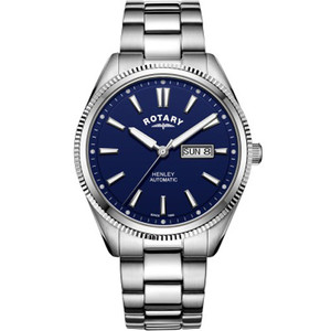 Rotary Men's Henley Automatic Sapphire Blue Dial Bracelet Watch GB05380/05