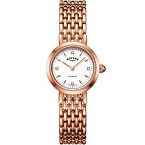 Rotary Ladies Balmoral Sapphire Diamond Set Rose Gold PVD Bracelet Watch LB00901/70/D