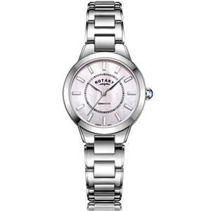 Rotary Ladies Kensington Swarovski Crystal Sapphire Pink Mother Of Pearl Dial Watch LB05375/07
