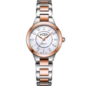 Rotary Ladies Kensington Swarovski Crystal Sapphire White Mother Of Pearl Dial Bracelet Watch LB05377/41