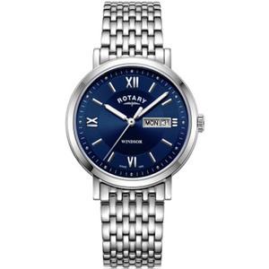 Rotary Men's Windsor Sapphire Blue Dial Bracelet Watch GB05300/66