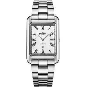 Rotary Men's Cambridge Sapphire Glossy Silver White Dial Bracelet Watch GB05280/01