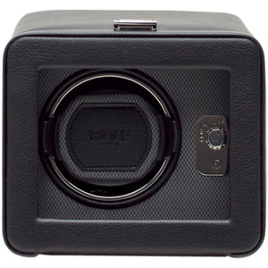 Wolf Windsor Black Single Watch Winder With Glass Cover 4525029
