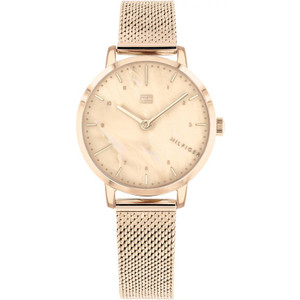 Tommy Hilfiger Ladies Lily Rose Gold Mother Of Pearl Dial Mesh Bracelet Watch 1782042
